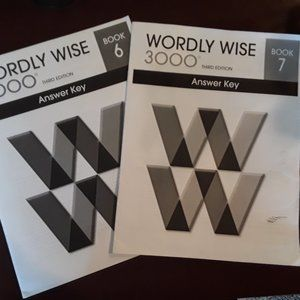 ⭐ 3/$15  Wordly Wise Book 6 and 7 Answer Key